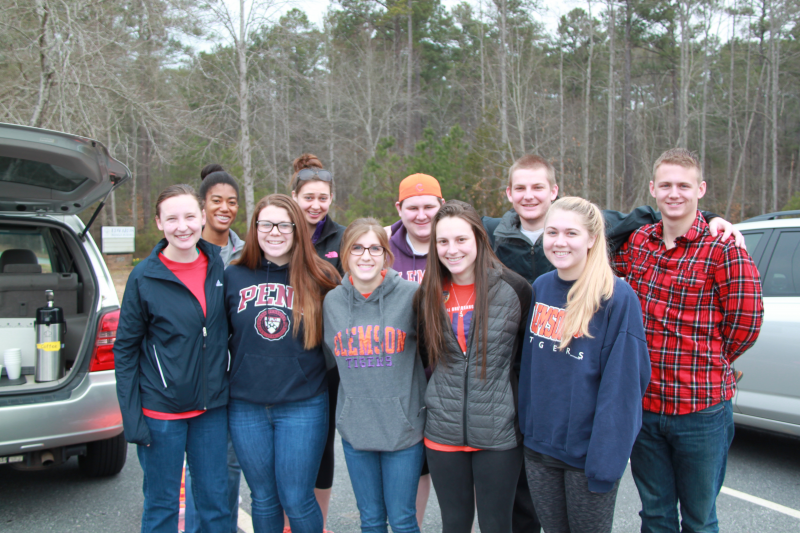 Clemson Rotaract members help with trash pick up